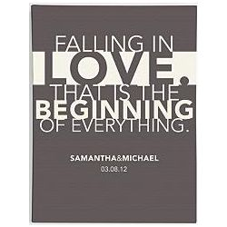 Personalized Falling in Love Wall Art