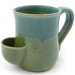 Handmade Tea Mug with Tea Bag Holder