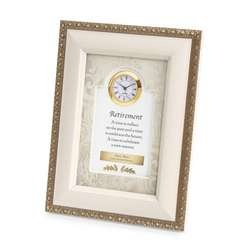 Cream Retirement Frame Clock