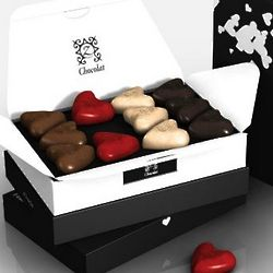 zBox 12 Romantic Je T'aime French Chocolates Gift Box