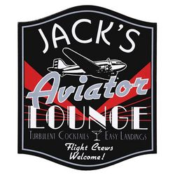 Personalized Aviator Lounge Sign