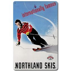 Northland Skis Metal Sign