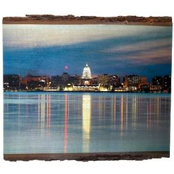 Wisconsin Capital Lake View Photo on Wood
