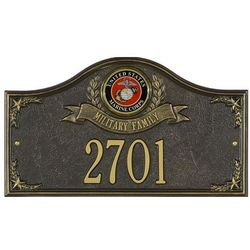 Personalized Marine Medallion Address Sign