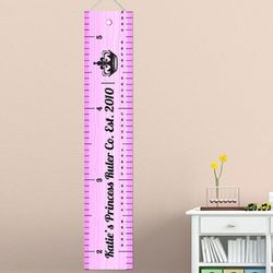 Ruler of This Room Personalized Girl's Height Chart