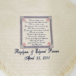 Apache Wedding Blessing Personalized Blanket