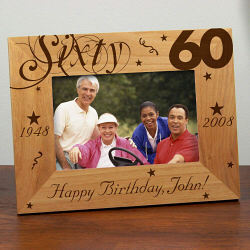 Personalized 60th Birthday Picture Frame