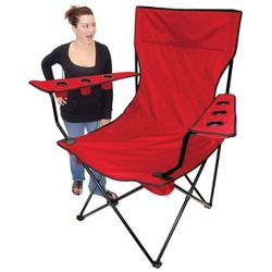 Red Kingpin Giant Tailgating Chair