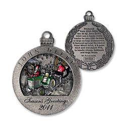 John Deere 2011 Pewter Christmas Ornament