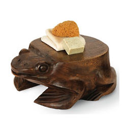 Hand Carved Frog Stool