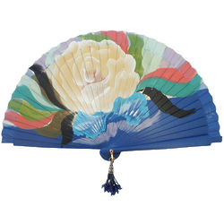 Handpainted Spanish Rose Design Hand Fan