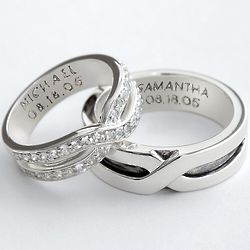 Sterling Silver Couples Ring