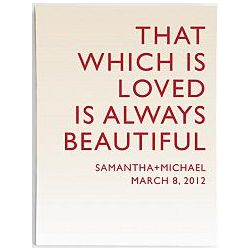 Personalized Always Beautiful Quote Wall Art