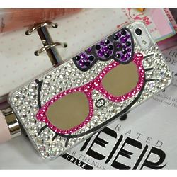 Mirror Glasses and Silver Jewels Hello Kitty Cell Phone Case