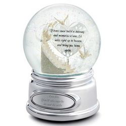 Memorial Stairway Musical Snow Globe