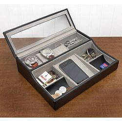 Dignified Details Men's Cufflink and Valet Box