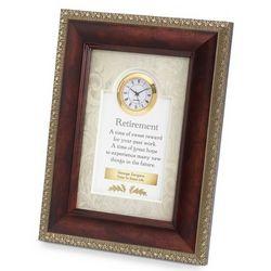 Retirement Framed Clock
