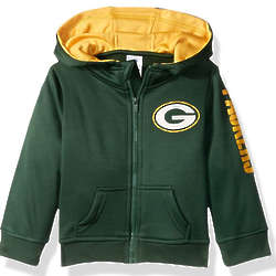 Infant's or Toddler's Green Bay Packers Full Zip Hoodie