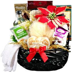 Relaxing Holiday Spa Christmas Gift Basket for Her