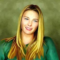 Maria Sharapova Oil Painting Giclee
