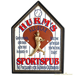 All Star Baseball Sports Pub Personalized Sign