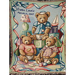 Baby Bears Personalized Baby Afghan
