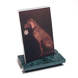 Natural Marble Photo Frame in Green