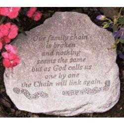 """Our Family Chain is Broken"" Memorial Garden Stone"