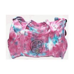 Peace, Love, Happiness Tie Dye Duffle Bag