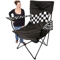 Checker Flag Kingpin Giant Tailgating Chair
