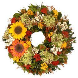 Sunflower Hydrangea Wreath