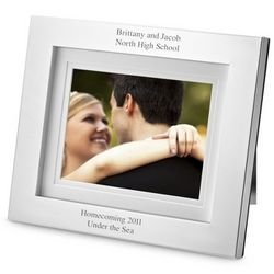 Personalized Simply Silver Digital Picture Frame