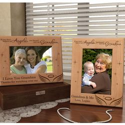 Personalized I Believe in Angels Wooden Picture Frame