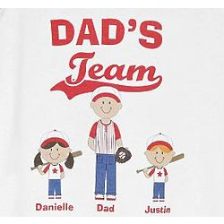 Personalized Team Baseball Buddies Adult Red Jersey