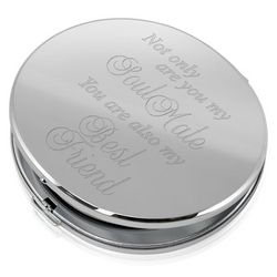 Soul Mate and Best Friend Round Compact Mirror