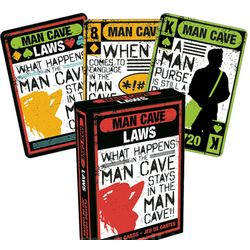 Man Cave Laws Playing Cards