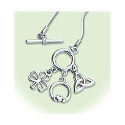 Triple Irish Toggle Necklace