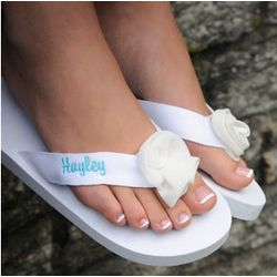 White Personalized Flip-Flops