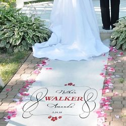 Timeless Personalized Wedding Aisle Runner