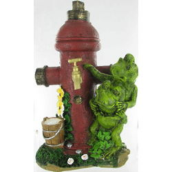 Frogs and Fire Hydrant Decorative Garden Statue