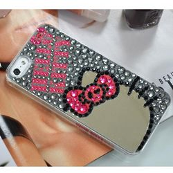 Mirror Glasses and Grey Jewels Hello Kitty Cell Phone Case