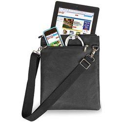 Tablet Black Leather Travel Bag