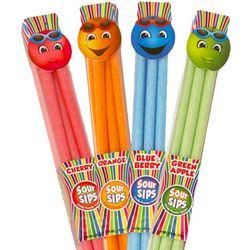 Sour Sips Candy Powder Straws