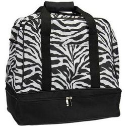 Zebra Print Weekender Bag