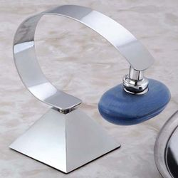 Chrome Deluxe Pyramid Base Magnetic Soap Holder