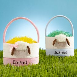 Baby's First Easter Personalized Lamb Basket