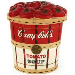 Campbell's Tomato Soup Bushel Basket Cookie Jar