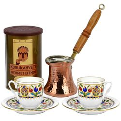 Turkish Coffee for 2 with Mehmet Efendi Coffee and Tulip Cups