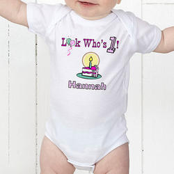 Birthday Baby Personalized Bodysuit
