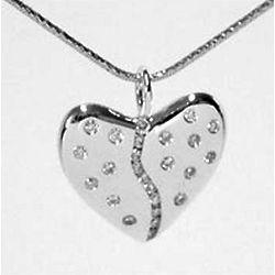25 Diamond Silver Harmony Heart Pendant